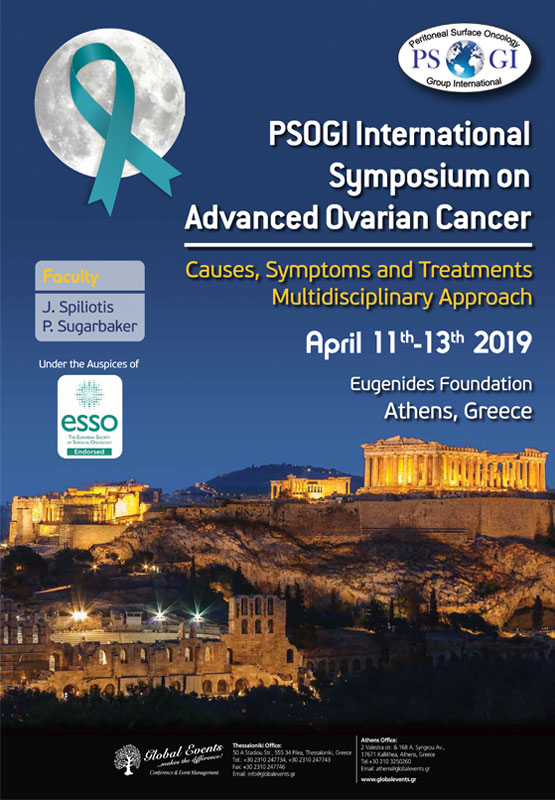 412. PSOGI International Symposium on Advanced Ovarian Cancer, Causes, Symptoms and Treatments Multidisciplinary Approach