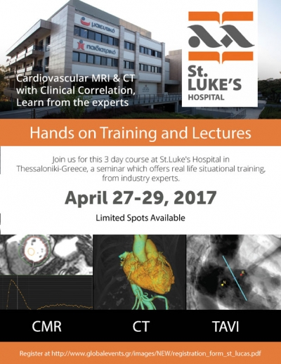 328. Cardiovascular MRI & CT with Clinical Correlation, Learn from the experts Hands on Training and Lecture