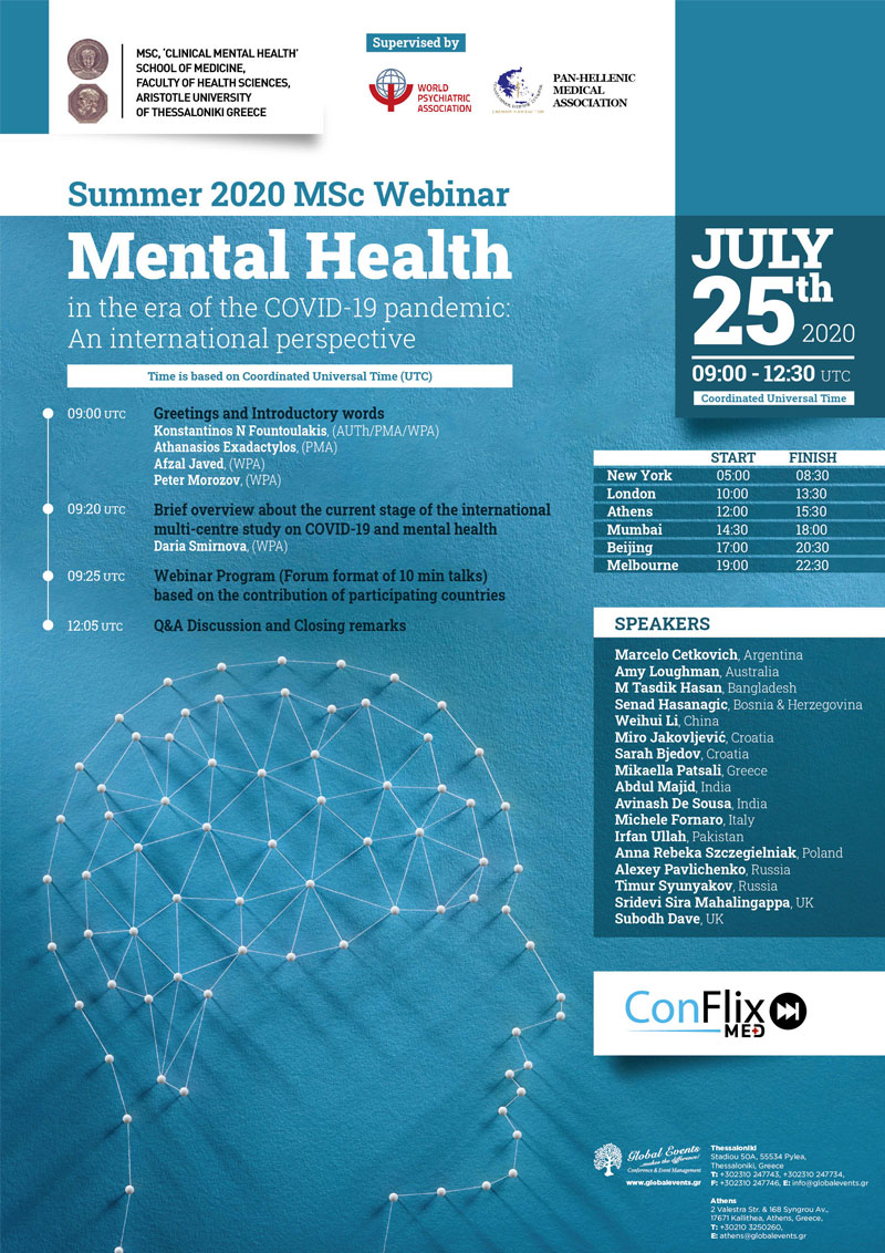 461. Summer 2020 MSc Webinar - Mental Health in the era of the COVID-19 pandemic: An international perspective