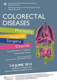 166. Colorectal Diseases - Minimally Invasive Surgery Course  2013, Larissa, Greece