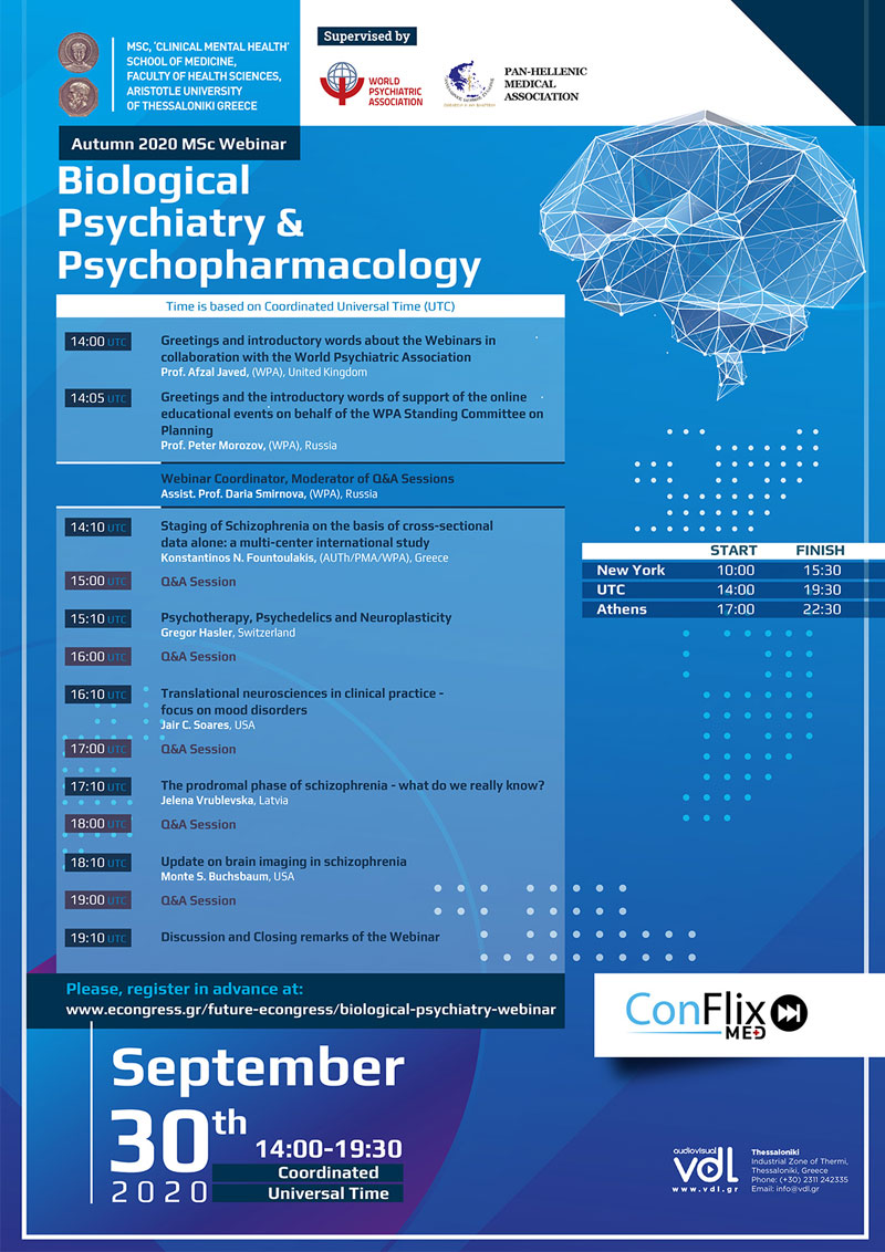 465. Autumn 2020 MSc Webinar - Biological Psychiatry & Psychopharmacology