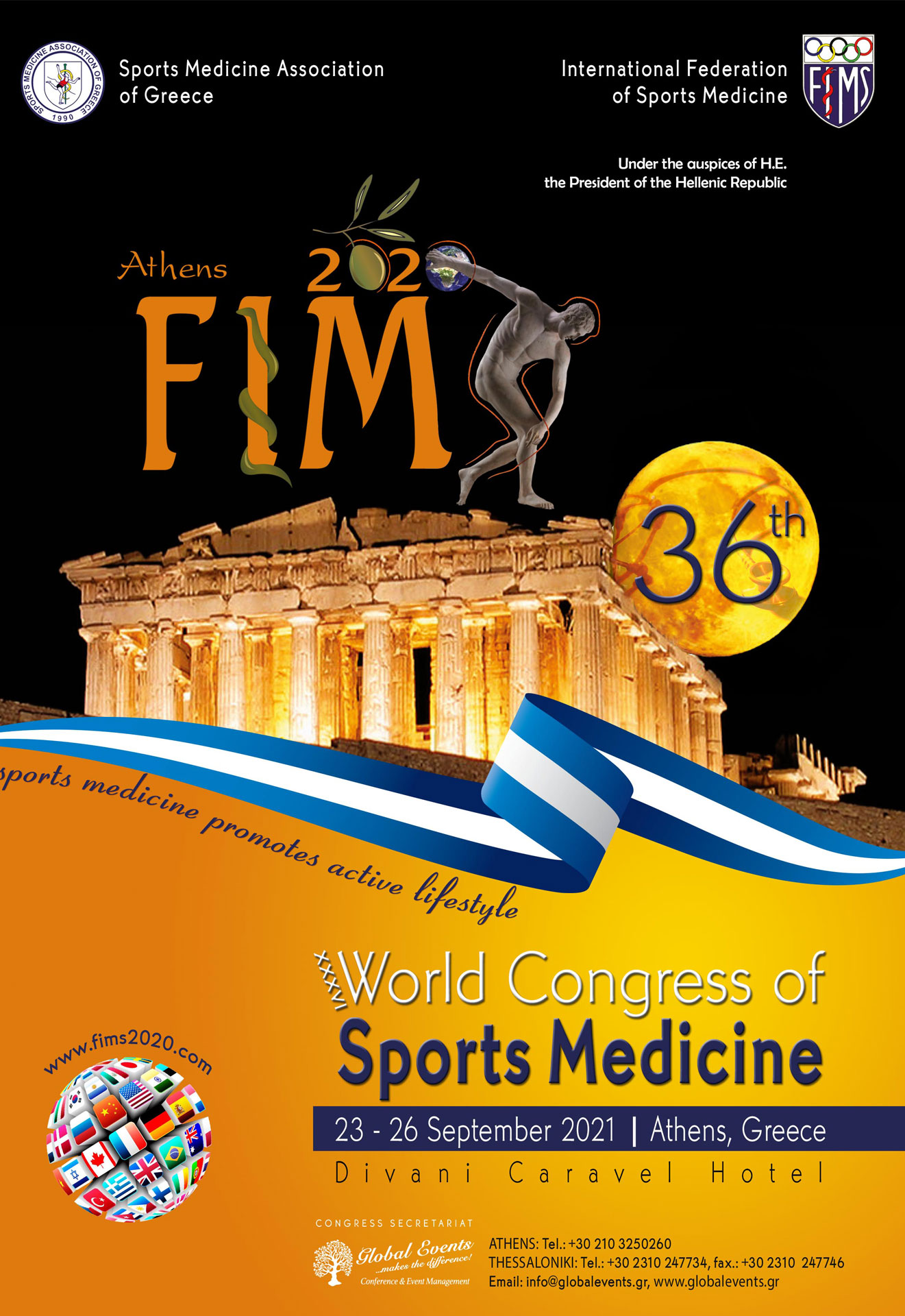 2020 FIMS : XXXVI World Congress of Sports Medicine