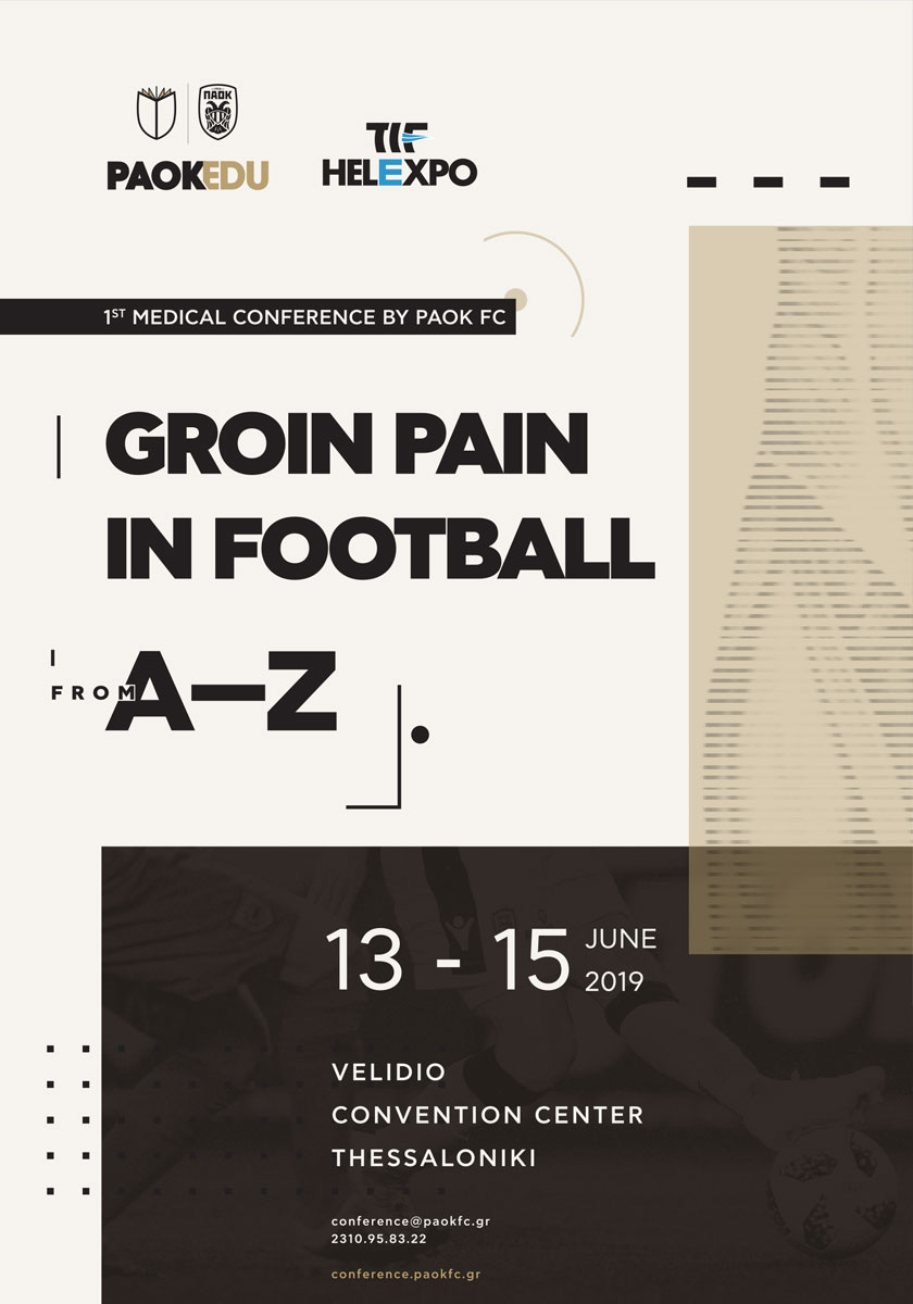 423. 1st Medical Conference by PAOK FC - Groin Pain In Football Form A to Z