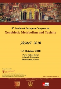 087. XEMET 2010  8th Southeast European Congress on Xenobiotic  Metabolism and Toxicity  Θεσσαλονίκη, 2010