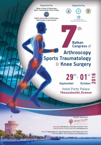 297. 7th Balkan Congress of Arthroscopy, Sports, Traumatology & Knee Surgery