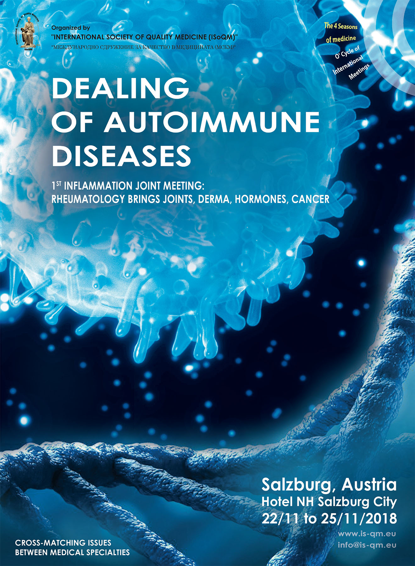 399. Dealing of Autoimmune Diseases - 1st Inflammation Joint Meeting: Rheumatology Brings Joints, Derma, Hormones, Cancer