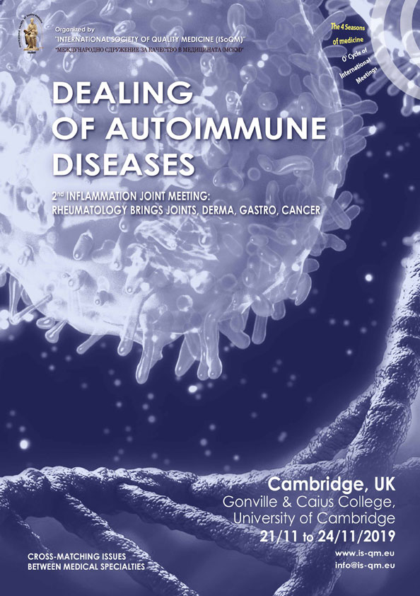 447. 2nd Inflammation Joint Meeting: Rheumatology brings Joints, Derma, Gastro, Cancer
