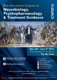 165. 3rd Congress on Neurobiology, Psychopharmacology & Treatment Guidance Thessaloniki, 2013
