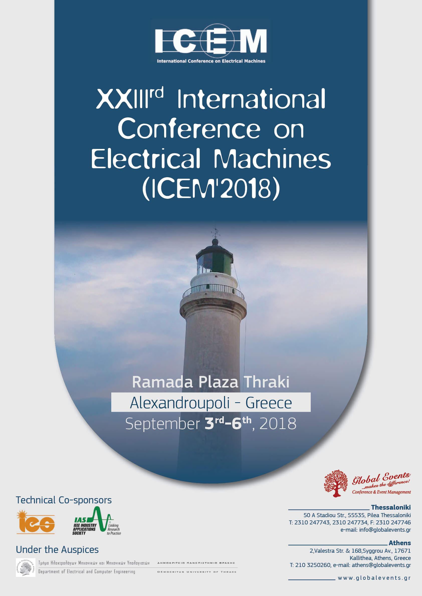 388. XXIIIrd International Conference on Electrical Machines - ICEM2018
