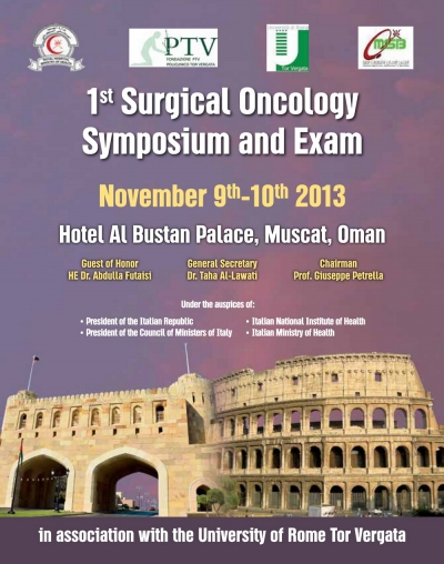 177. Surgical Oncology Symposium Course and Exam Sultanate of Oman - Muscat, 9 - 10 November 2013